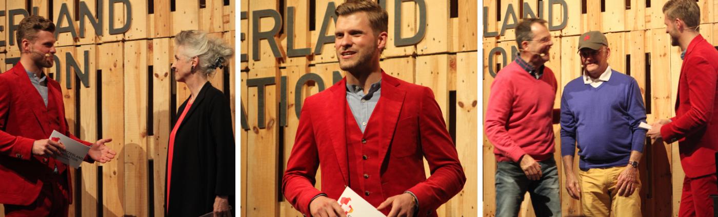 Moderator Thomas Odermatt moderiert das 3-Jahres-Jubiläum des Innovationsparks Zürich in Dübendorf.