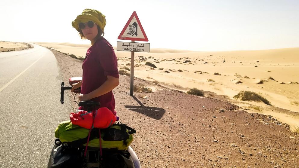 On arrive dans les dunes