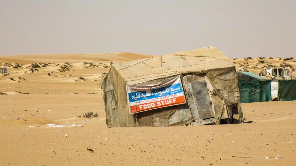 On rêvait du prochain village pour boire un truc frais, mais finalement le magasin c'était ça, et c'était fermé !