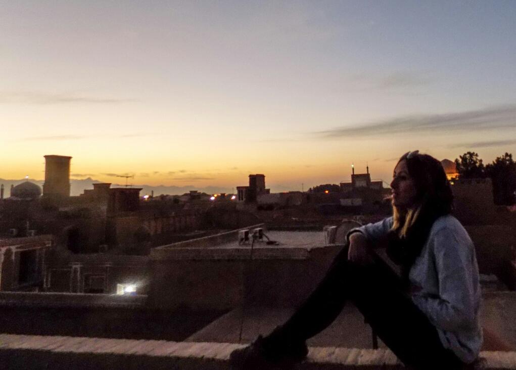 Sur les toits de Yazd