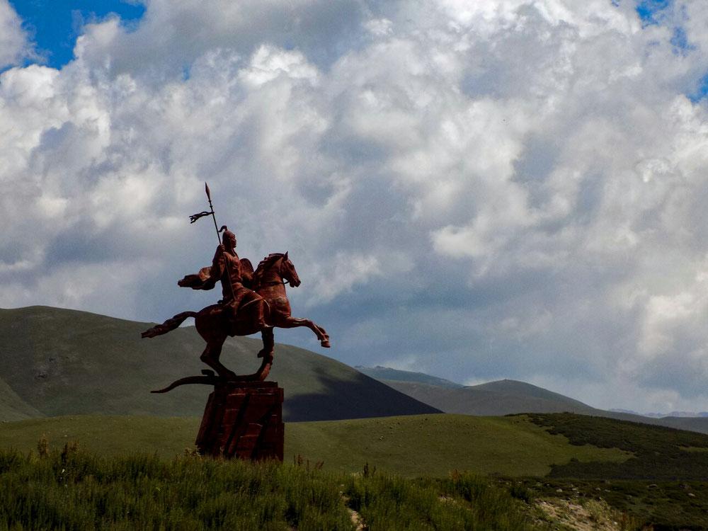 Cavalier des steppes d'Asie centrale