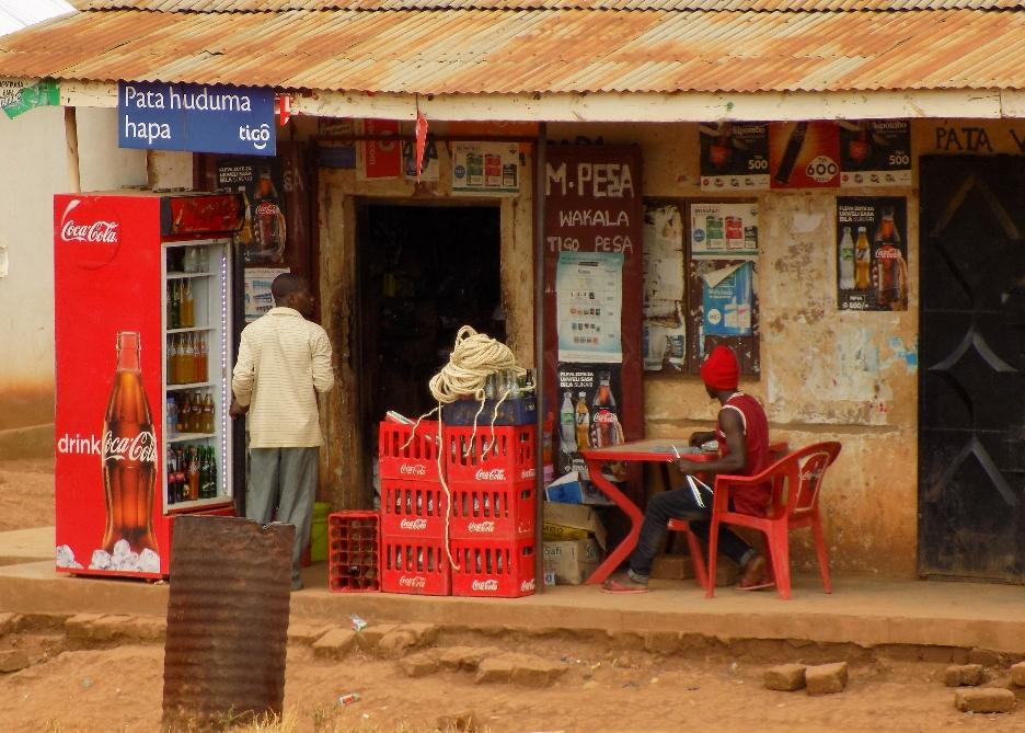 Les magasins M.pesa (pour mettre de l'argent sur son téléphone)