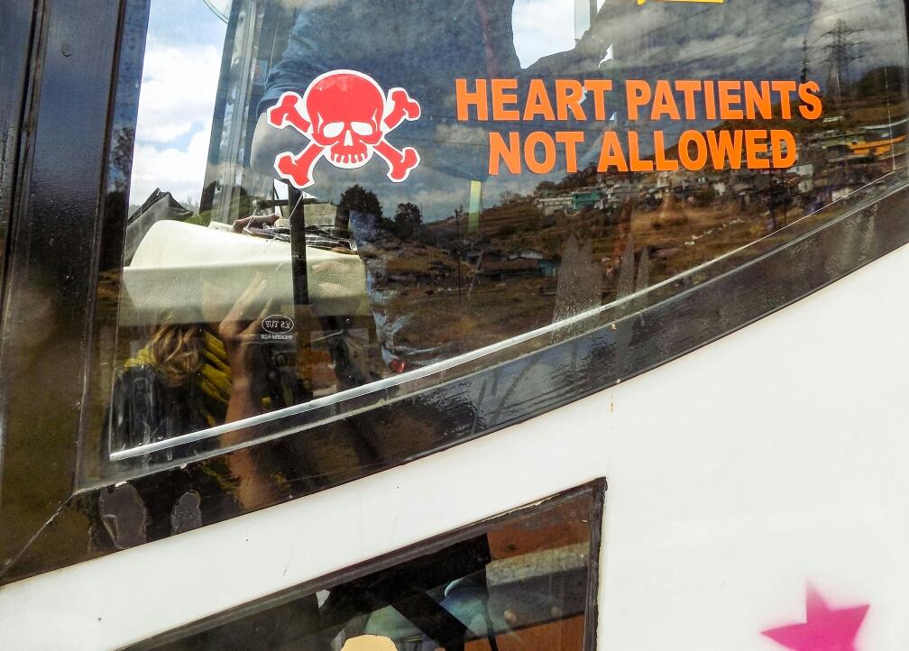 Très rassurant.. Vu sur la fenêtre d'un bus