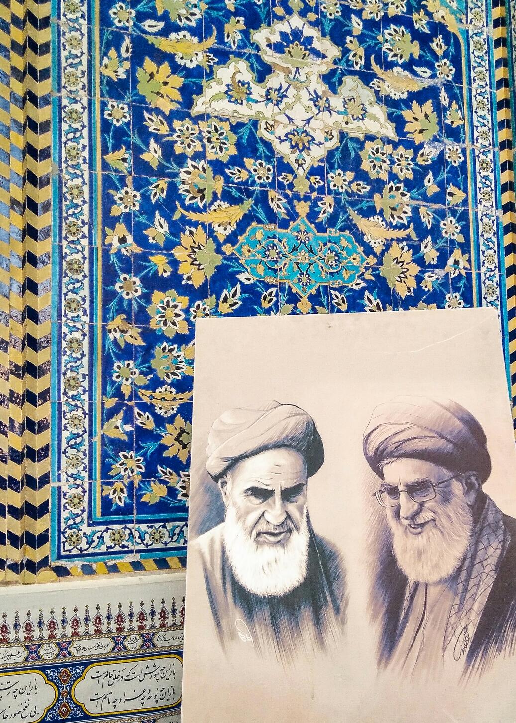 """Khomeini et Khamenei, les deux """"stars"""" de l'Iran"""