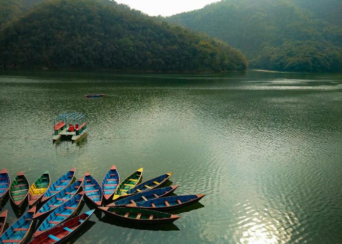 Le lac de Pokhara