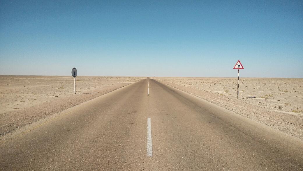 Comme ça sur des kilomètres ! (et encore, on a pris en photo l'endroit où il y avait des panneaux...)