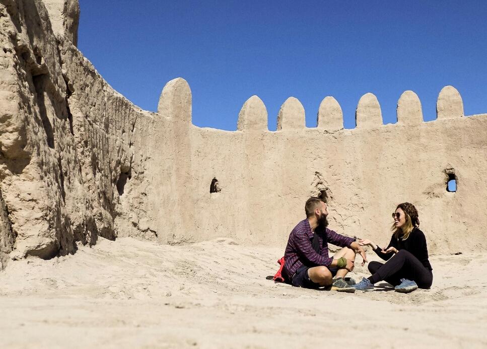 Et qui ressemble à un château de sable vue de l'intérieur