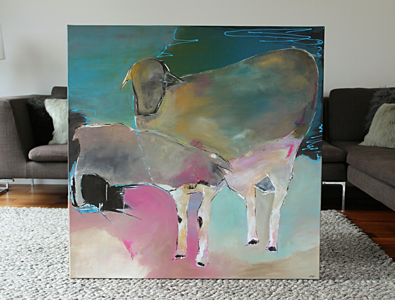 """Naive Kunst"" - 100cm x 100cm - Acryl auf Leinwand - Preis auf Anfrage"