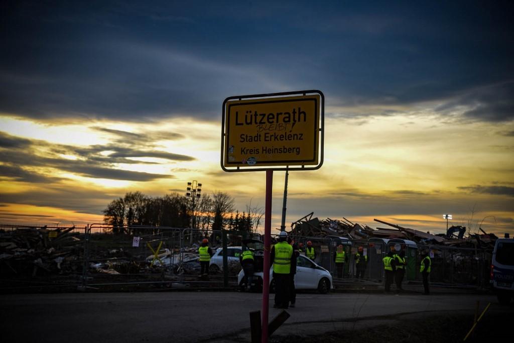 Der Ortseingang von Lützerath (Foto: Alexander Frank)