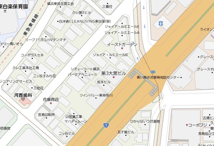 地図を見ながら場所