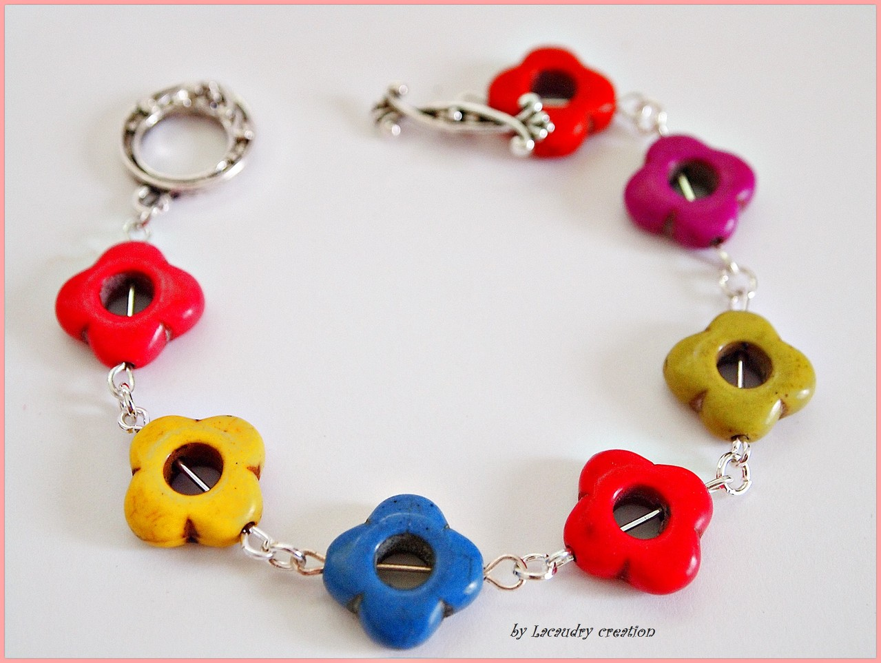 Bracelet pop fleurs