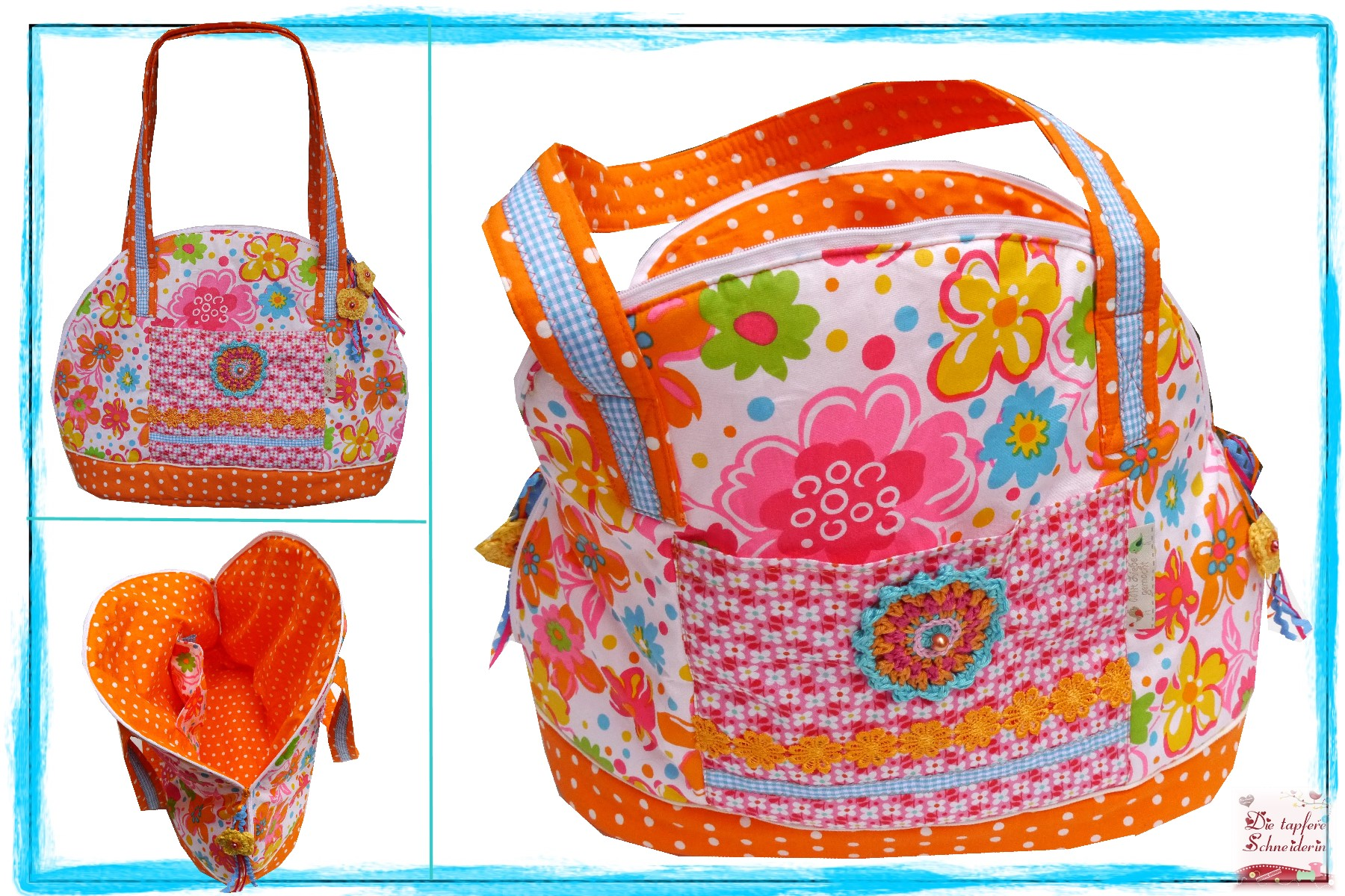 Bogentasche *Flower-Love*  59,90