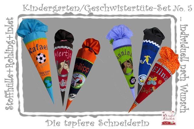 Kindergarten/Geschwistertüten-Set Nr. 5 / Individual-Produkt