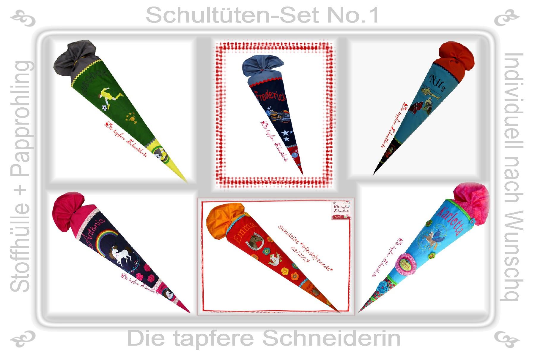 Schultüten-Set Nr. 1 / Individual-Produkt