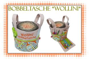 Bobbeltasche, Bobbelbag, Ebook Wollini, Bobbel, Farbverlaufsgarn