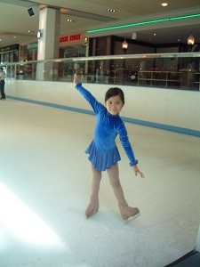 6歳。スケートを始めて2年目くらいの頃