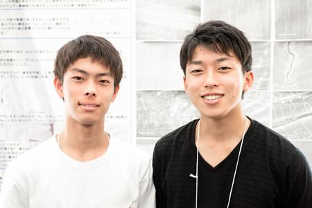左から 乙田寛太くん、鈴木創太朗くん(3年)