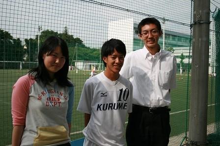 キャプテン加藤君(中央)、河西君(右)、サガワさん(左)