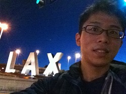 最初の滞在地、ロサンゼルスに着いた直後の写真