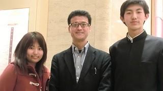 左から 辻野さん、吉川先生、河西くん