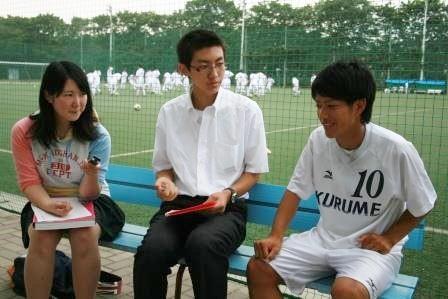 キャプテン加藤君(右)、河西君(中央)、サガワさん(左)