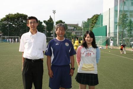 齋藤先生(中央)、河西君(左)、サガワさん(右)