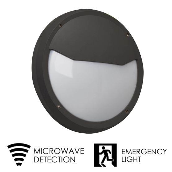 Außenwandleuchte mit Sensor und Notstrom