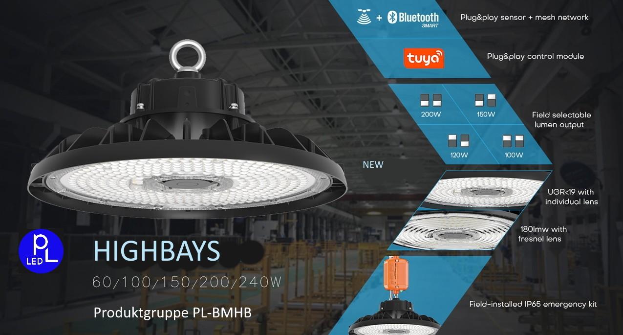 smarte LED Higbays mit genialer Ausstattung