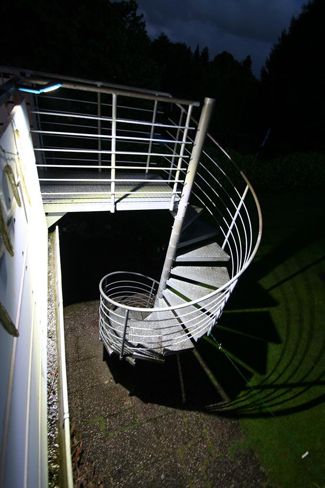 Beleuchtung einer Außentreppe