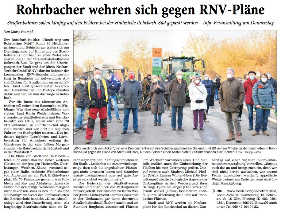 Kundgebung - Rohrbacher Feld