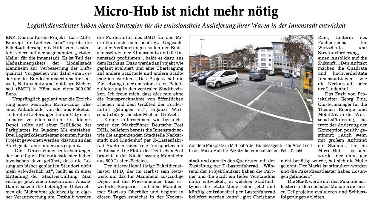 Wir haben bereits 2018 gegen Micro-Hubs gestimmt!