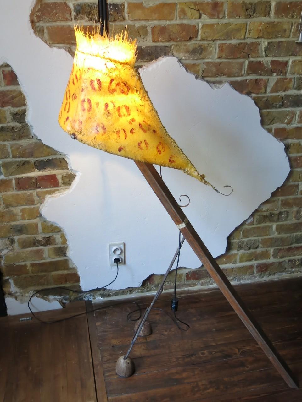 """Bizou"" staande lamp met polyester lampkap"
