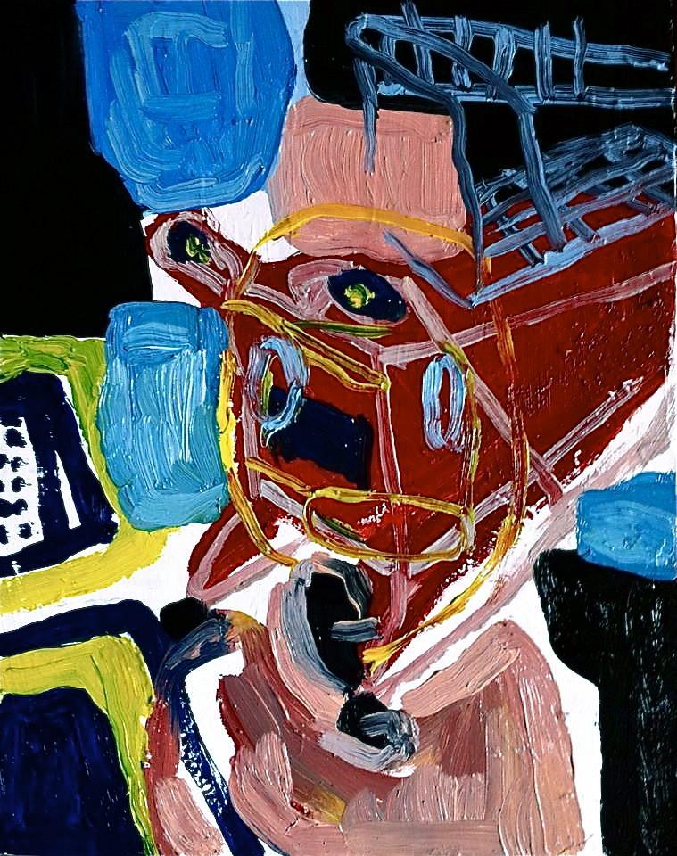 Mente carrello, olio su tela cm 22x28, 2014