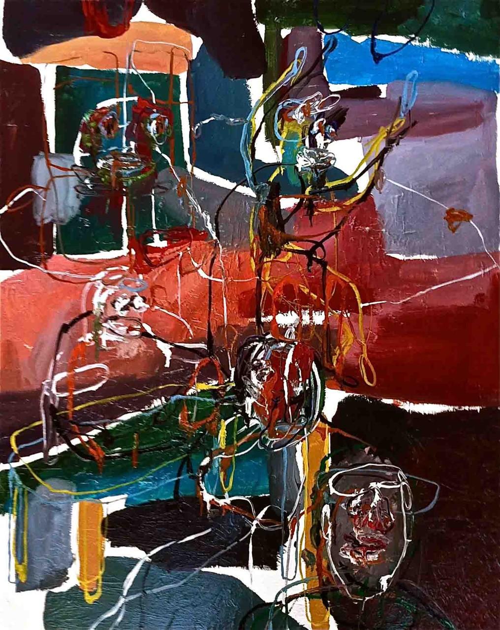 No title,tecnica mista su tela cm 80x100, 2014