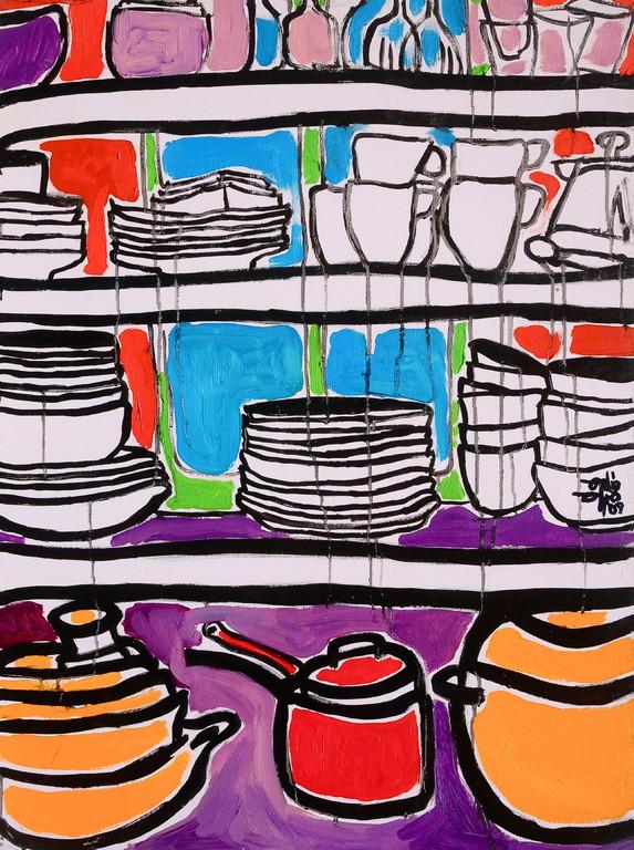 Centrincredenza, olio su tela 60x80, 2009