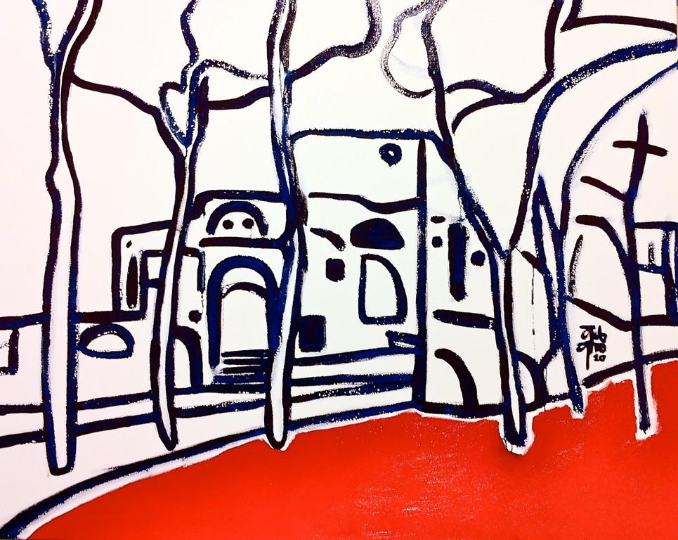Centrinfororomano, olio su tela, 100x80, 2010