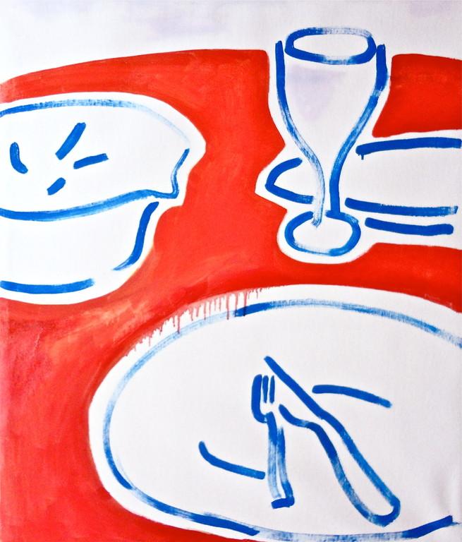Centrintavola#6, olio su tela 60x70, 2012