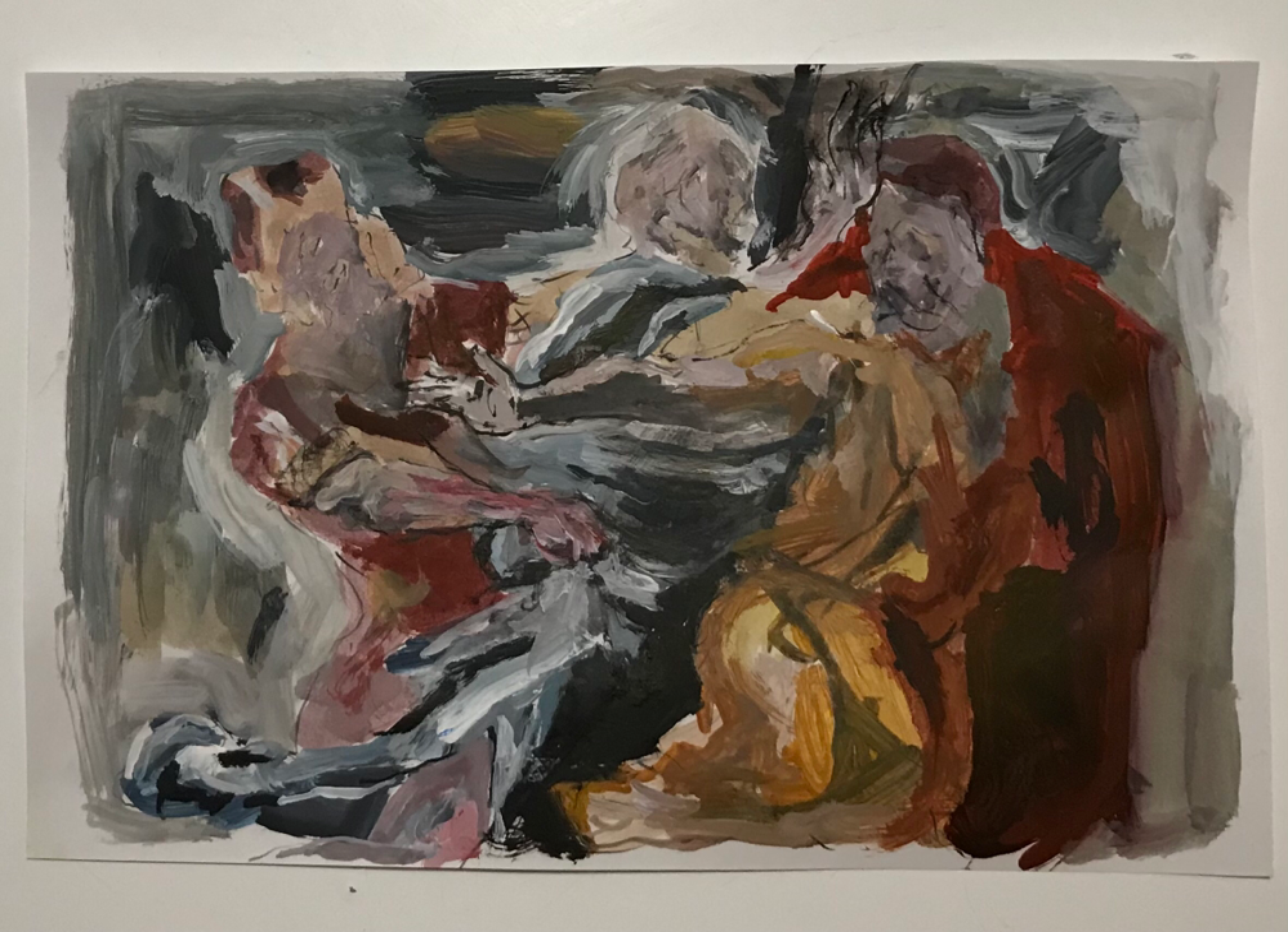Untitled, paint on paper cm 20x30, 2021