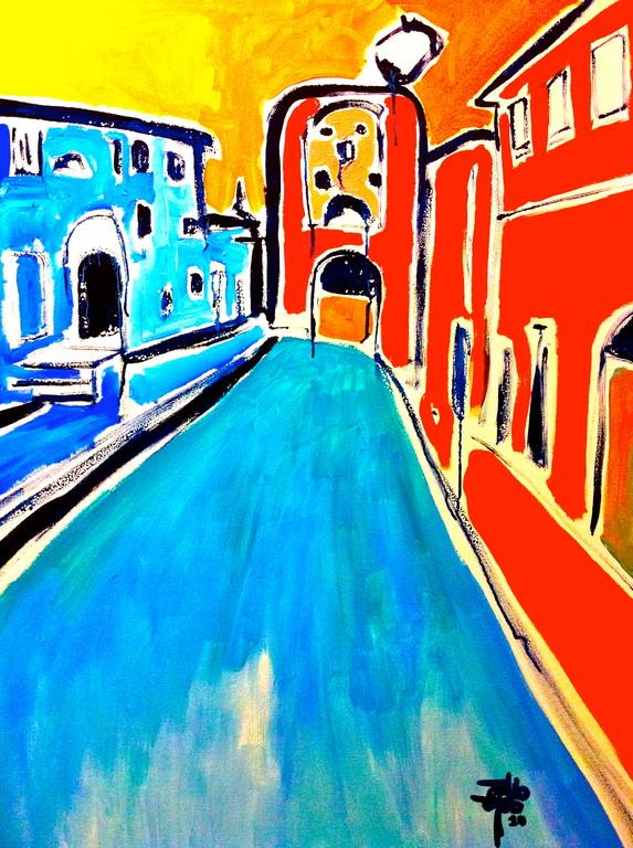 Centrinassisi, olio su tela, 80x100, 2010