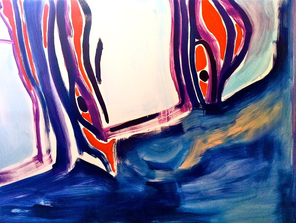 Centrinalberi, olio su tela 100x150, 2011