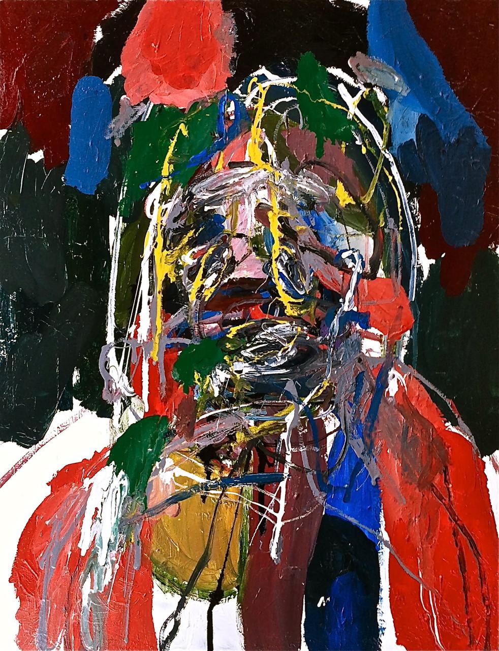 No title, tecnica mista su tela cm 66x88, 2014