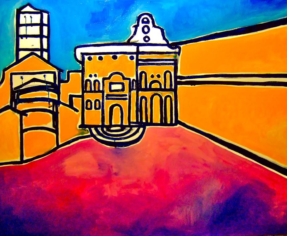Centrinarezzo, olio su tela 100x80, 2010
