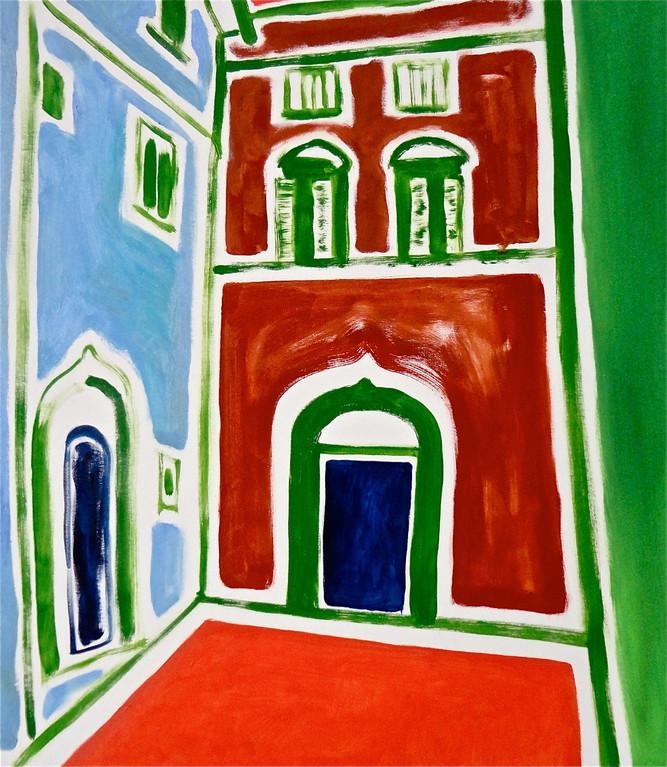 Centrinpaesaggio#5, olio su tela cm60x70, 2012