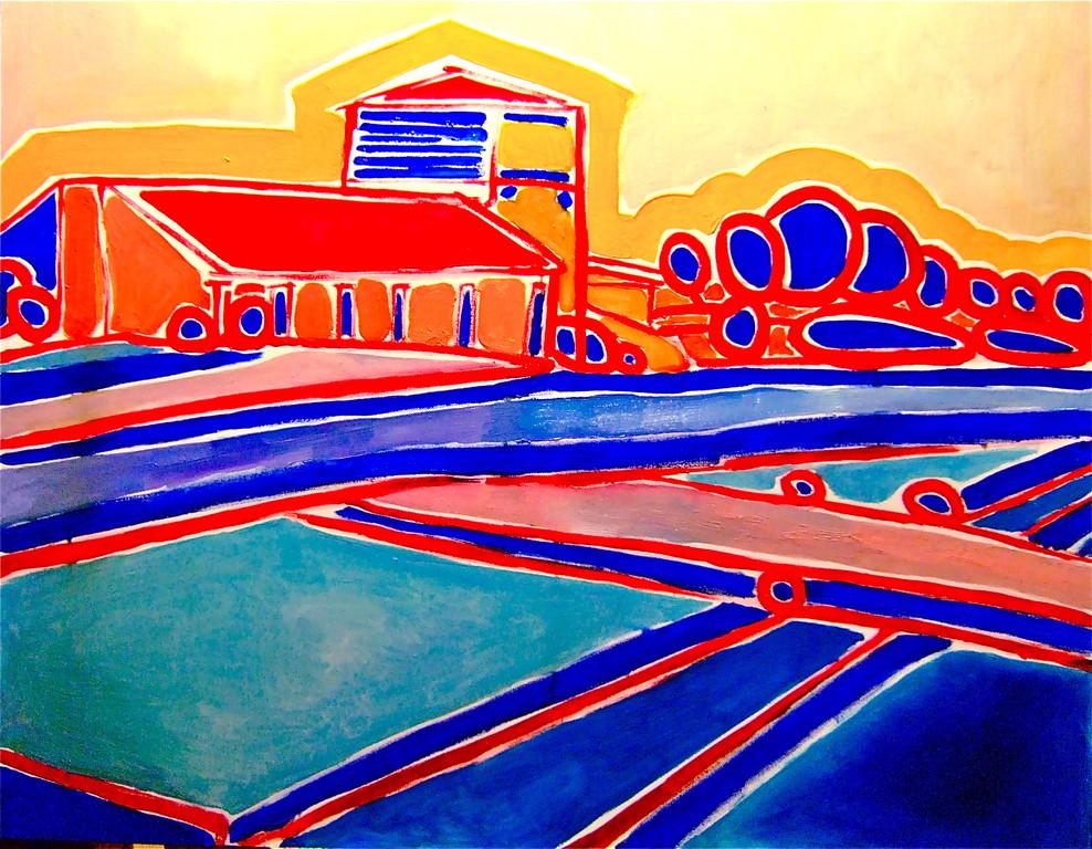 Centrinpaesaggio#3, olio su tela 100x80, 2010