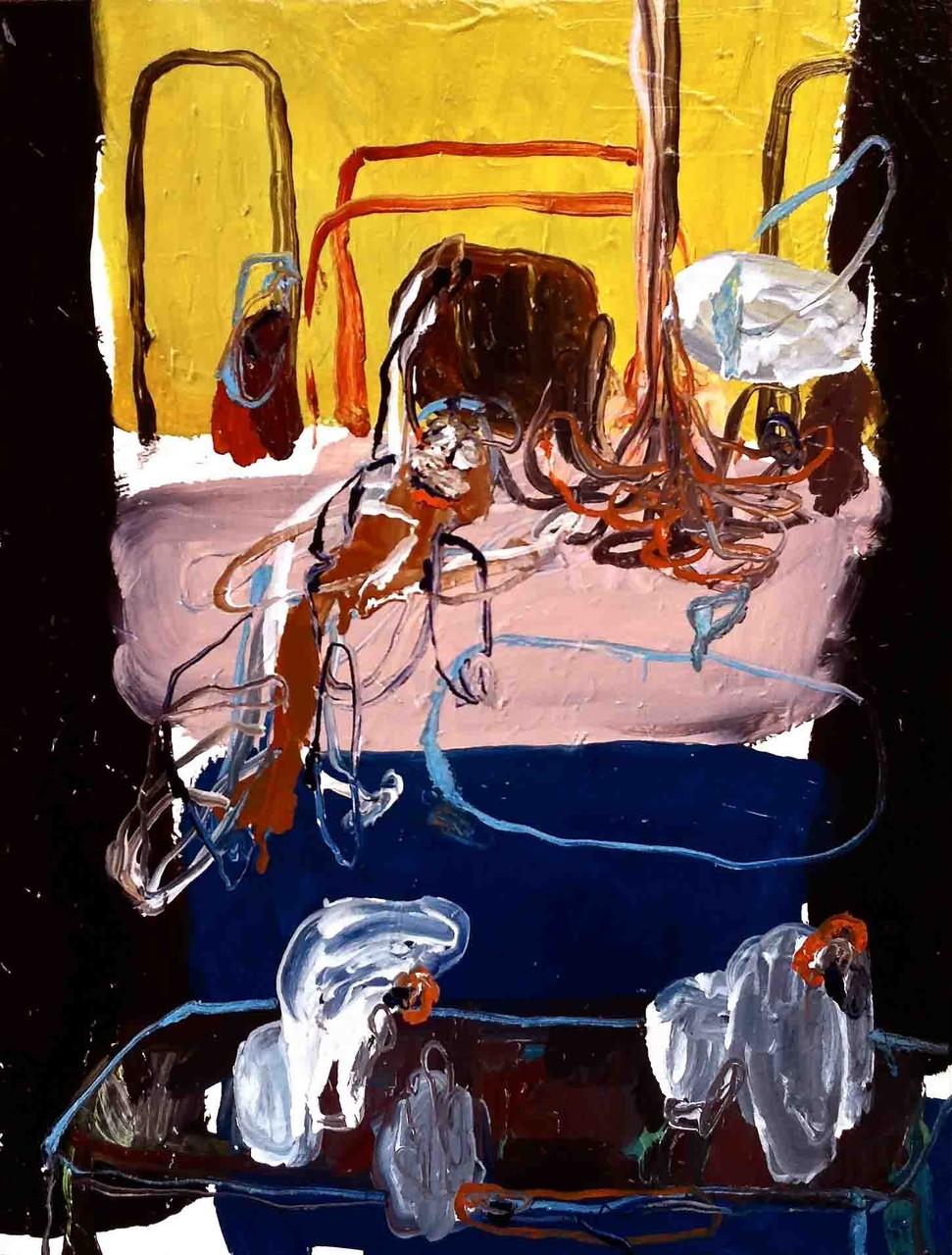 No title, tecnica mista su tela cm 46x55, 2014