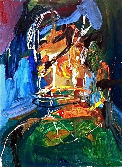 No title, tecnica mista su tavola, cm 30x40, 2015