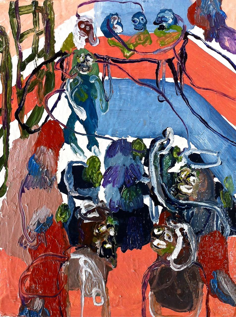 No title, tecnica mista su tela cm 18x24, 2014