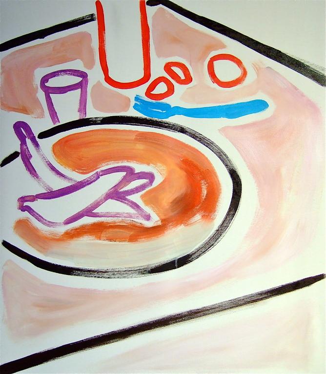 Centrintavola#11, olio su tela 60x70, 2012