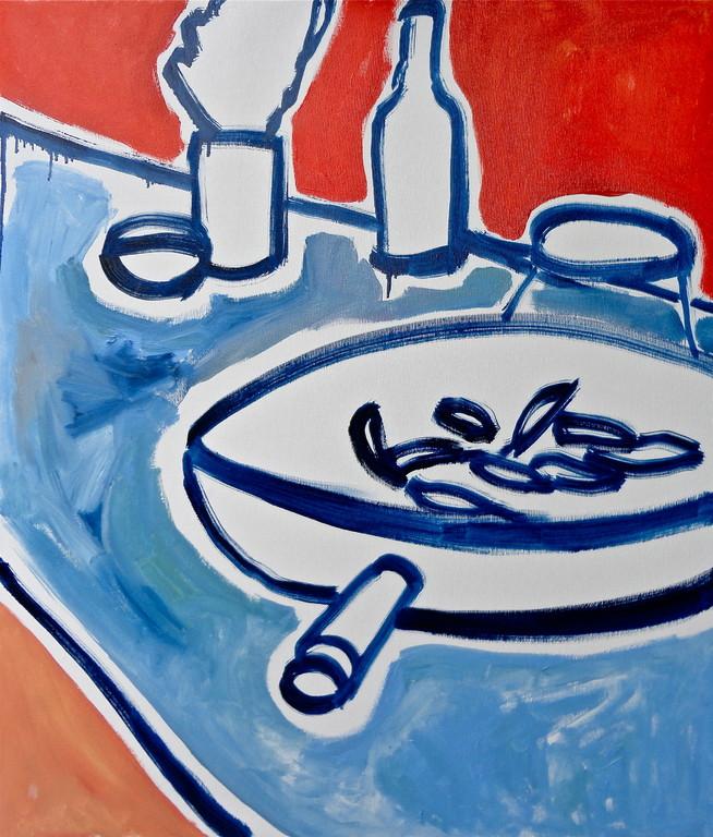 Centrintavola#5, olio su tela 60x70, 2012