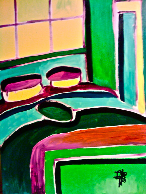 Centrinletto, olio su tela 80x60, 2009